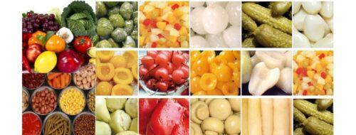 Frutas, Vegetales y Granos Enlatados